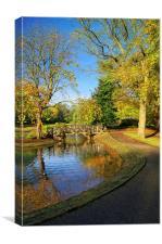 Weston Park Pond in Sheffield, Canvas Print