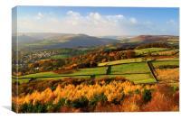 Hathersage Autumn Colours, Canvas Print