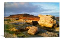 Higger Tor From Carl Wark, Canvas Print