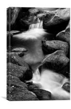 Padley Gorge in Mono, Canvas Print