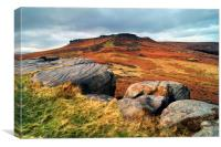 Higger Tor and Carl Wark, Canvas Print