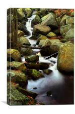 Padley Gorge Falls, Canvas Print