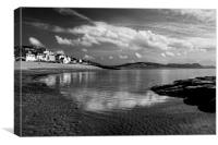 Lyme Regis in Mono, Canvas Print