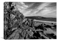 Hope Cove from Bigbury on Sea, Canvas Print