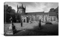 St Mary Magdelene Church, Whiston in Mono, Canvas Print