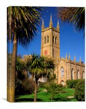 St Marys Church, Penzance, Canvas Print