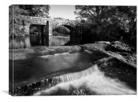 Hill Bridge & River Tavy Falls, Canvas Print