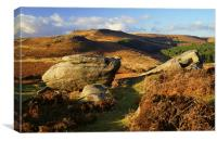 Burbage Rocks, Canvas Print