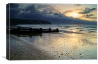 Swanage Bay Sunrise, Canvas Print