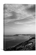Swanage View in Mono, Canvas Print
