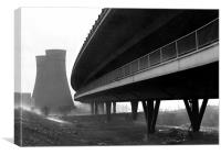 Tinsley Cooling Towers & Viaduct, Canvas Print