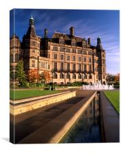 Sheffield Town Hall & Peace Gardens, Canvas Print