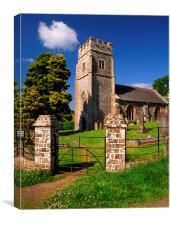 All Saints Church, Eggesford, Canvas Print
