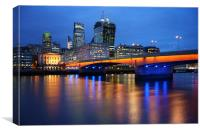 London Bridge Reflections, Canvas Print