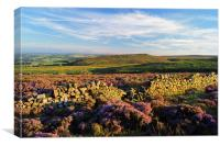 Burbage Moor & Houndkirk Hill, Canvas Print