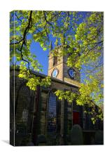 St Thomas Church, Kimberworth,Rotherham, Canvas Print