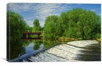 Sandersons Weir, Canvas Print