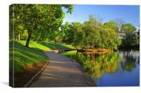 Hillsborough Park Lake, Sheffield, Canvas Print