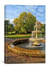 Sheffield Botanical Gardens Fountain, Canvas Print