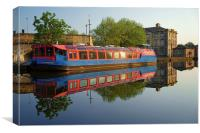 Sheffield Canal Reflections, Canvas Print