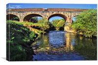 Bridge over River Dearne, Canvas Print