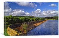Agden Reservoir & Dam, Canvas Print