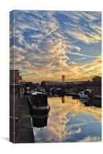Sheffield Canal Sunset, Canvas Print