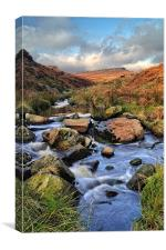 Burbage Brook in Autumn, Canvas Print