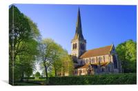 Holy Trinity Church, Wentworth, Canvas Print