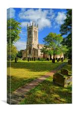 St John The Baptist Church,Wadworth, Canvas Print