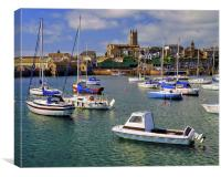 Penzance Harbour, Canvas Print