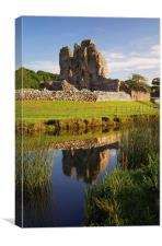 Ogmore Castle Reflections, Canvas Print
