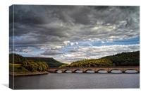Stormy Clouds over Ladybower , Canvas Print