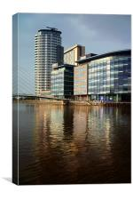 MediaCityUK, Salford Quays, Greater Manchester , Canvas Print