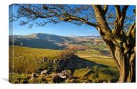 Mam Tor from above Cave Dale, Canvas Print