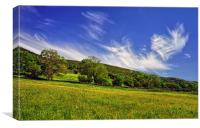 Dramatic Sky over Bradwell Edge , Canvas Print