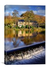 Bamford Weir and River Derwent, Canvas Print