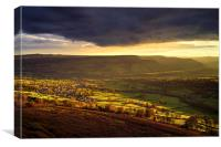 Evening Light over Bamford  , Canvas Print