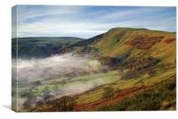 Mist below Mam Tor , Canvas Print