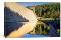 Derwent Dam Reflections , Canvas Print