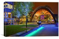 Winter Gardens and Millennium Square in Sheffield , Canvas Print