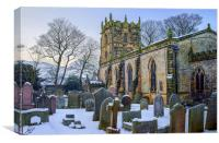 St Edmunds Church, Castleton in Winter, Canvas Print