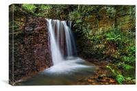 Waterfall near Damflask Reservoir, Canvas Print