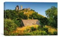 Corfe Castle , Canvas Print