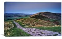 Mam Tor at Dawn , Canvas Print