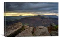 Stormy Skies over Great Ridge , Canvas Print