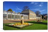 Sheffield Botanical Gardens and Pavilions, Canvas Print