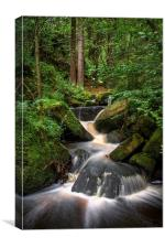 Wyming Brook Cascading Falls, Canvas Print