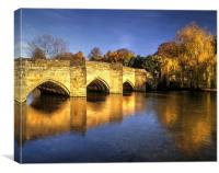 Bakewell Bridge and River Wye , Canvas Print