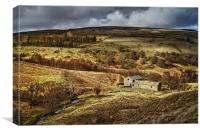 Blackden Barn and Woodlands Valley , Canvas Print